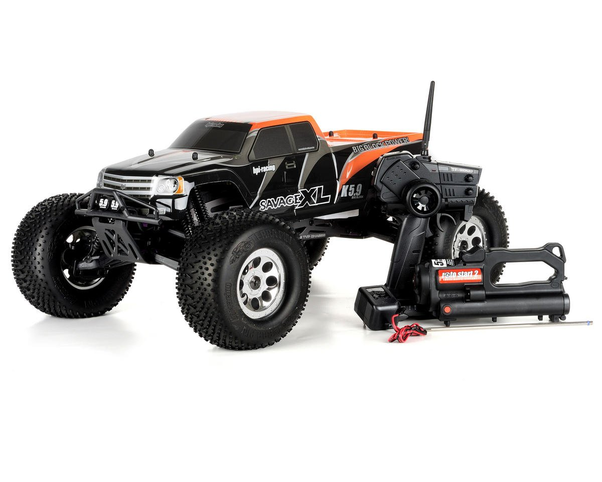 Hpi Savage Xl 5 9 Big Block 1 8 Scale Rtr Monster Truck W 2 4ghz Radio Hpi104246 Cars Trucks Amain Hobbies