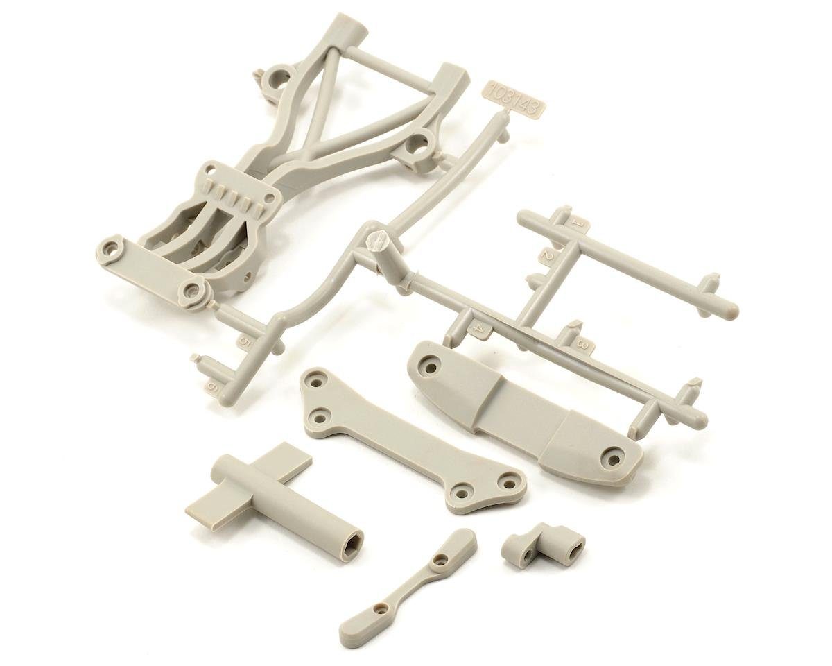 HPI High Performance Rear Brace Set (White) (Blitz ESE)