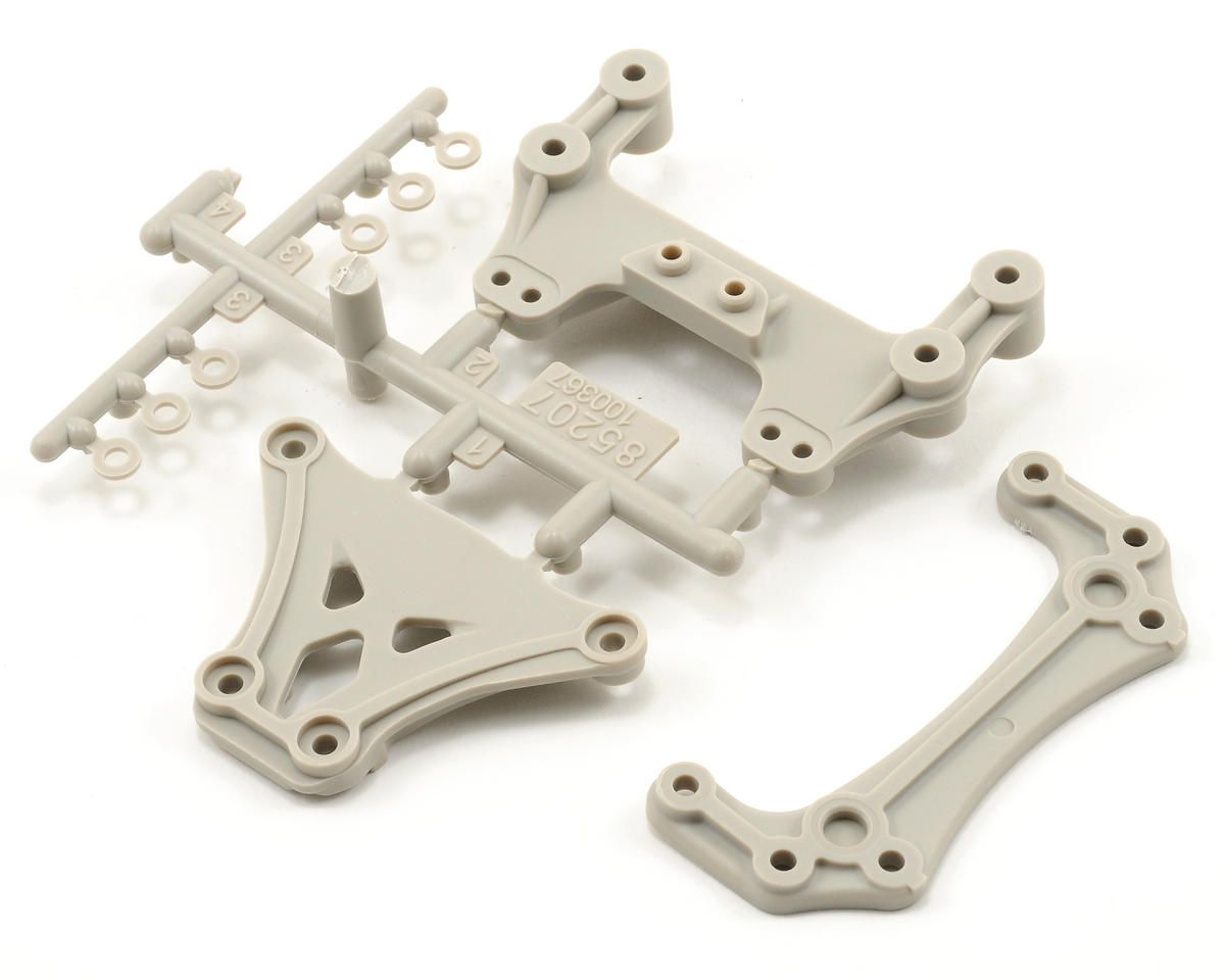 HPI Racing High Performance Upper Brace Set (White) (Blitz ESE)