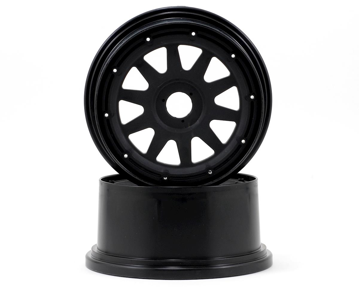 TR-10 Baja 5SC Rear Wheel (2) (120x65mm/-10mm Offset) (Black) by HPI