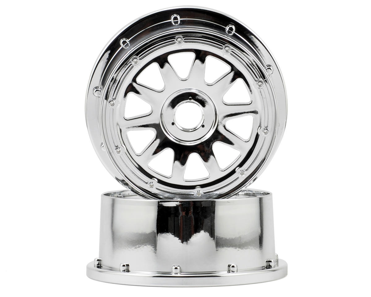 HPI Racing TR-10 Baja 5SC Front Wheel (2) (120x60mm/-4mm Offset) (Chrome)