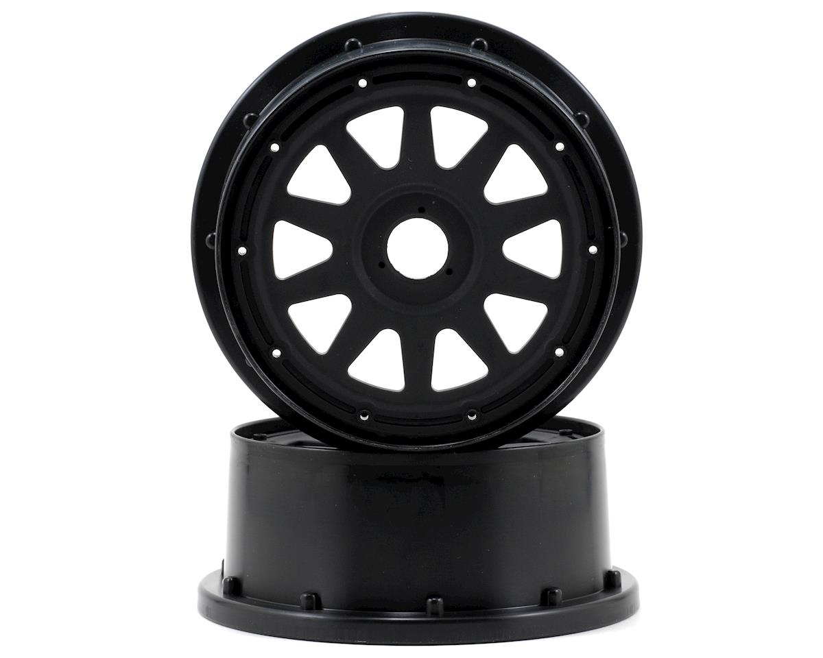 TR-10 Baja 5SC Front Wheel (2) (120x60mm/-4mm Offset) (Black) by HPI