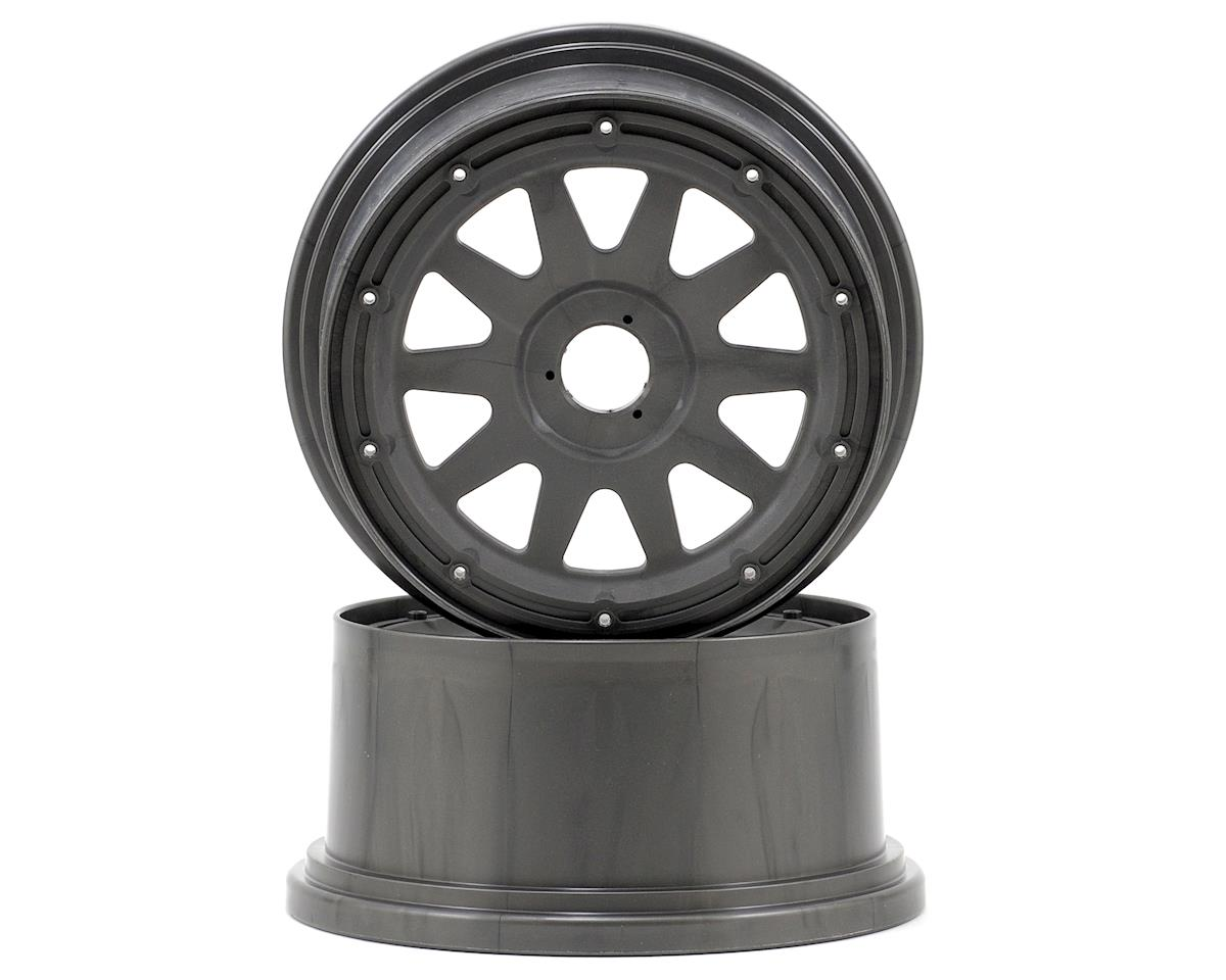 HPI TR-10 Baja 5SC Rear Wheel (Gun Metal) (2) (120x65mm/-10mm Offset)