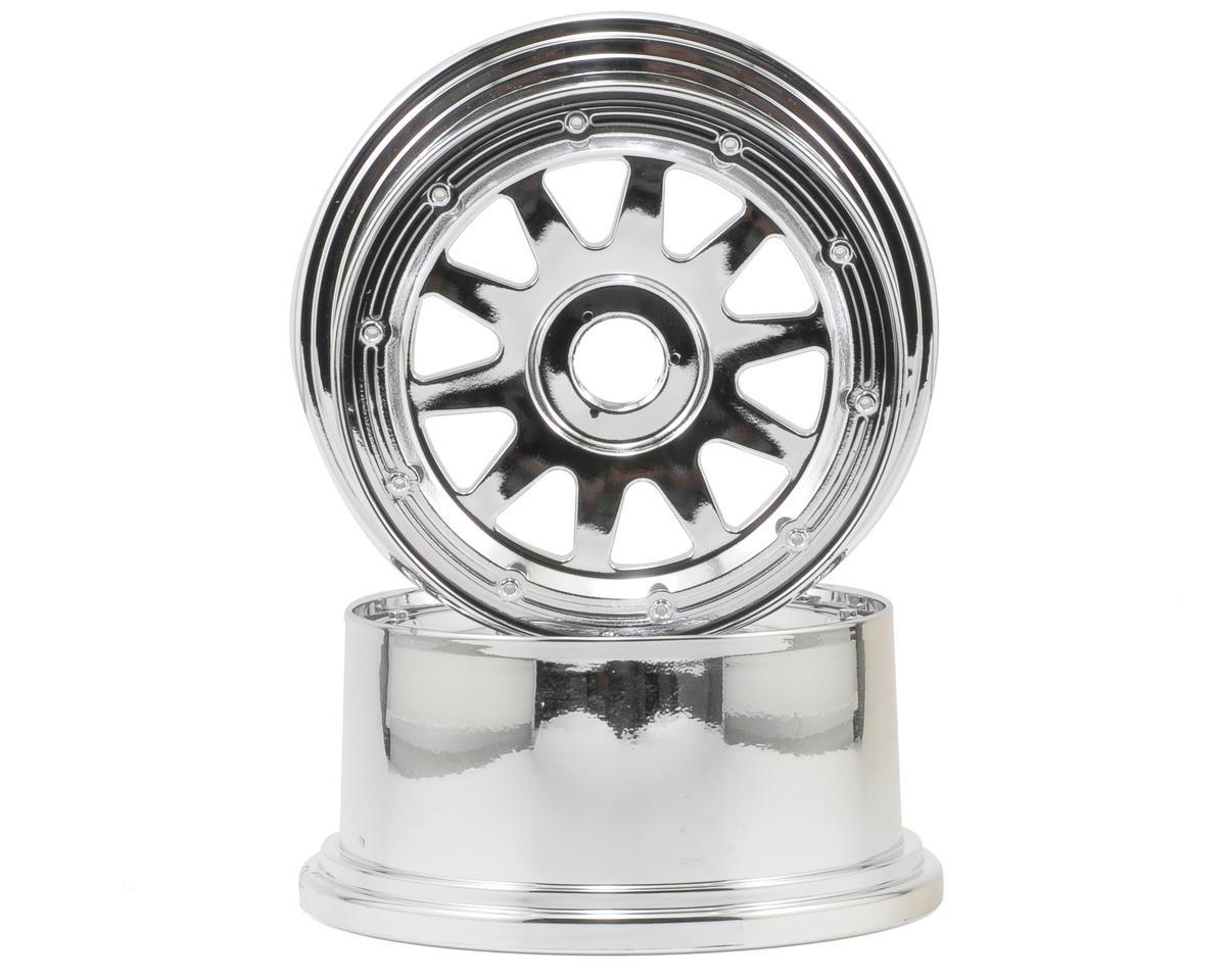 HPI Racing TR-10 Baja 5SC Rear Wheel (2) (120x65mm/-10mm Offset) (Chrome)
