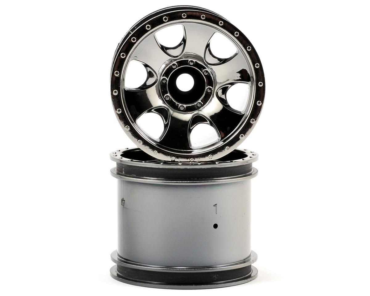 "2.2"" Warlock Wheel Set (2) (XS) (Black Chrome) by HPI"