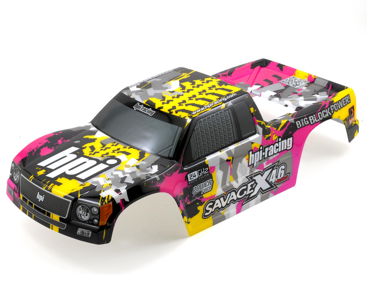 HPI Racing Nitro GT-3 Truck Painted Body (Yellow/Pink/Black) (Savage X)