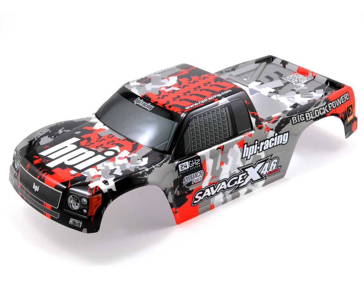 HPI Racing Savage X Nitro GT-3 Truck Painted Body (Gray/Red/Black) (Savage X)