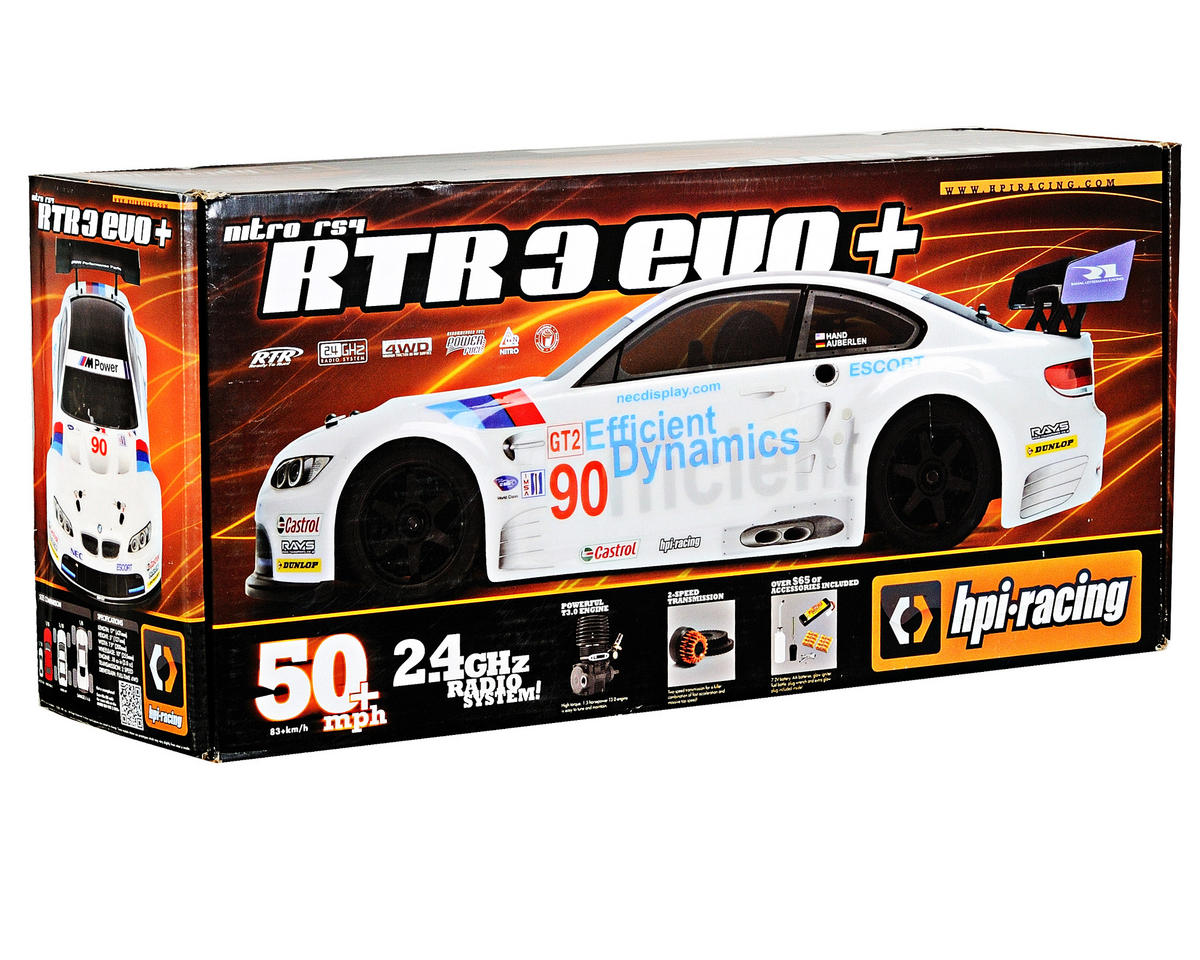 HPI Racing Nitro RS4 3 EVO+ RTR w/BMW M3 Body & 2.4GHz Radio
