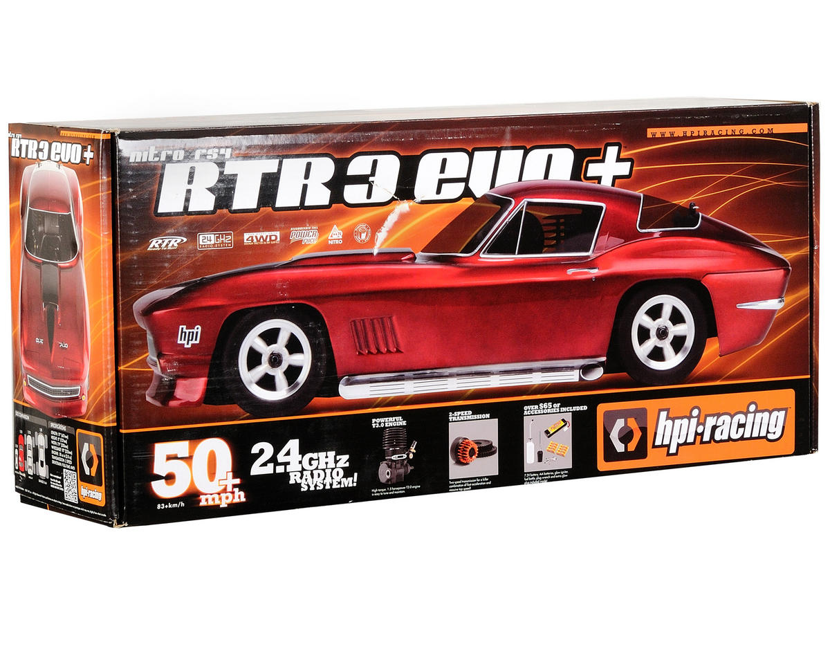 HPI Racing Nitro RS4 3 EVO+ RTR w/1967 Corvette Body & 2.4GHz Radio