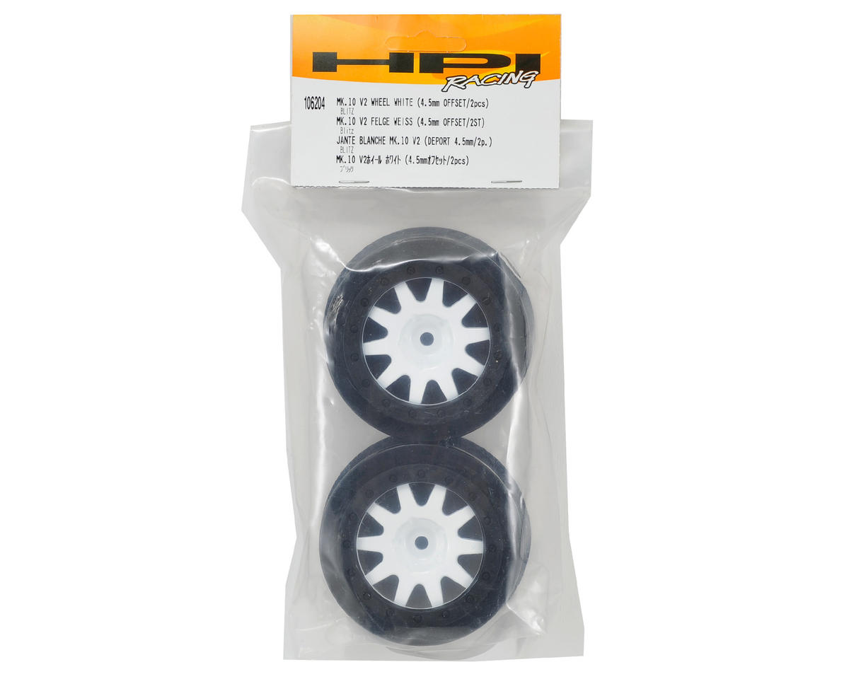 HPI 12mm Hex MK.10 V2 Short Course Wheels w/4.5mm Offset (White) (2)