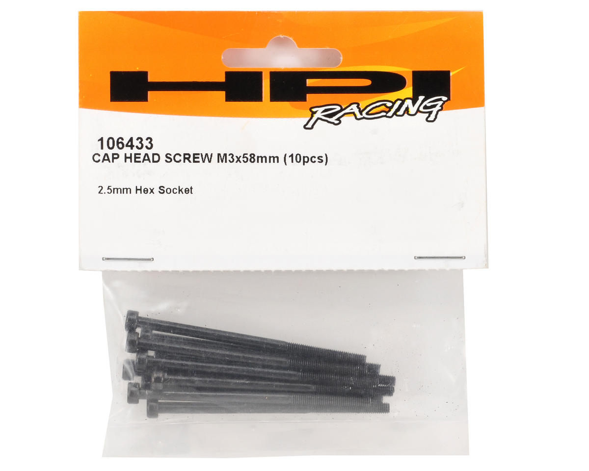 HPI 3x58mm Cap Head Screw (10)
