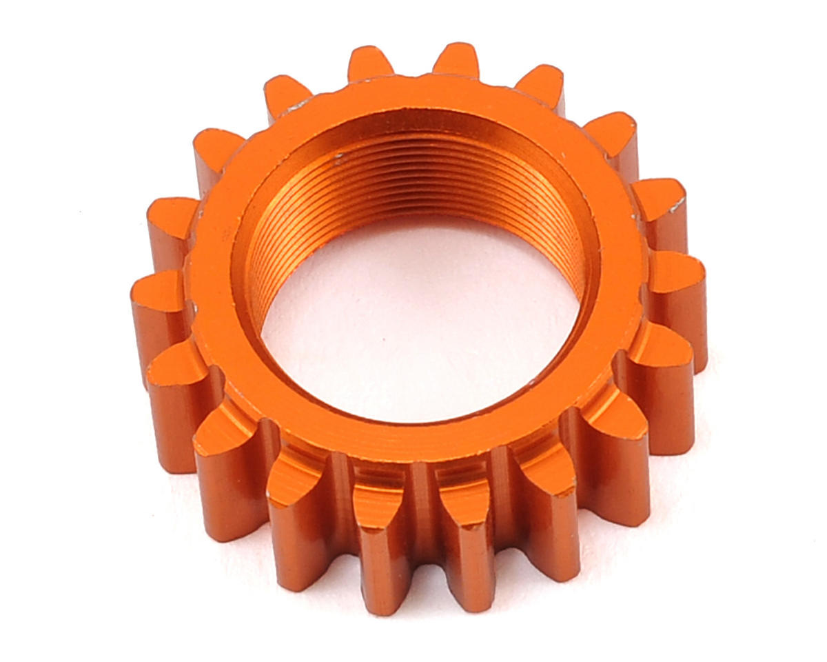 HPI Racing 1M Aluminum Threaded Pinion Gear (Orange) (18T)