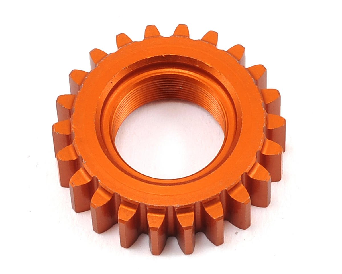 HPI Racing Nitro RS4 3 Drift 1M Aluminum Threaded Pinion Gear (Orange) (22T)