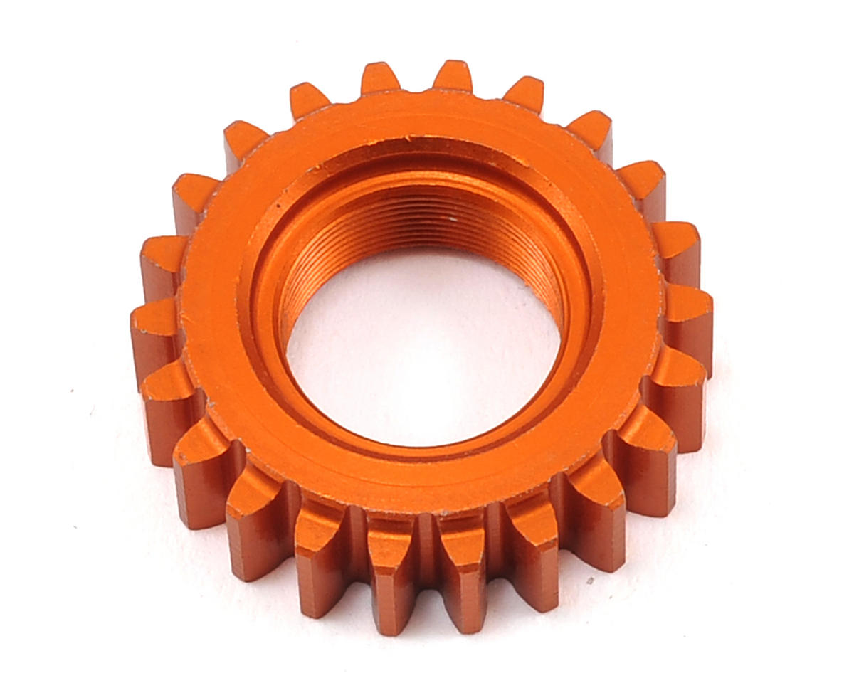 1M Aluminum Threaded Pinion Gear (Orange) (22T) by HPI