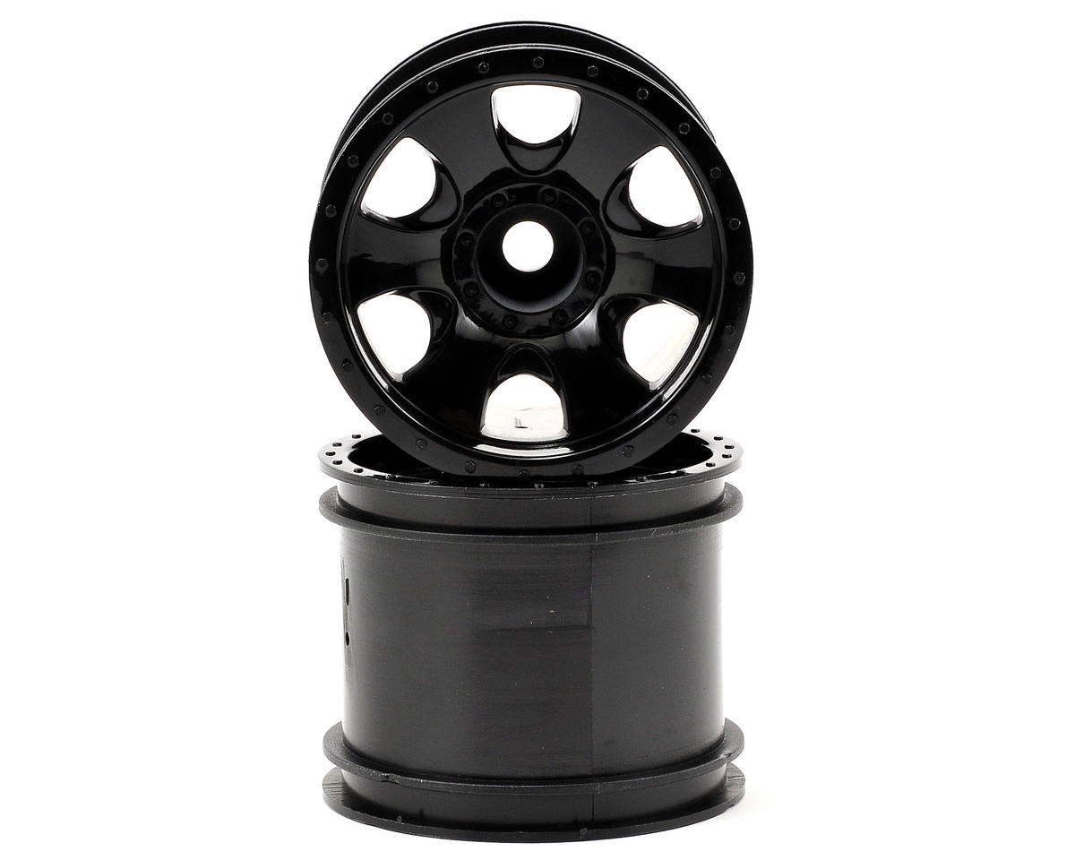Warlock 2.2 Wheel Set (2) (XS) (Black) by HPI Nitro Firestorm 10T