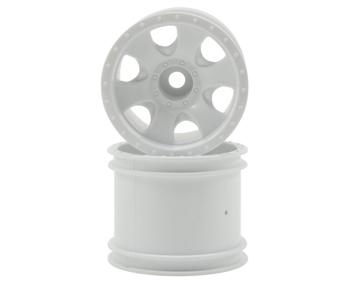 "HPI Racing 12mm Stepped Hex Warlock 2.2"" Stadium Truck Wheel (2) (XS) (White)"