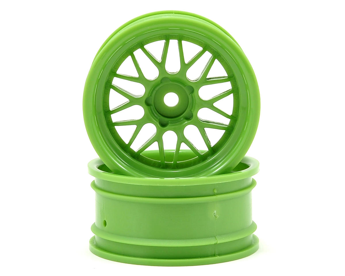 HPI Nitro RS4 3 Drift 12mm Hex 26mm HRE C90 Wheel (2) (6mm Offset) (Green)