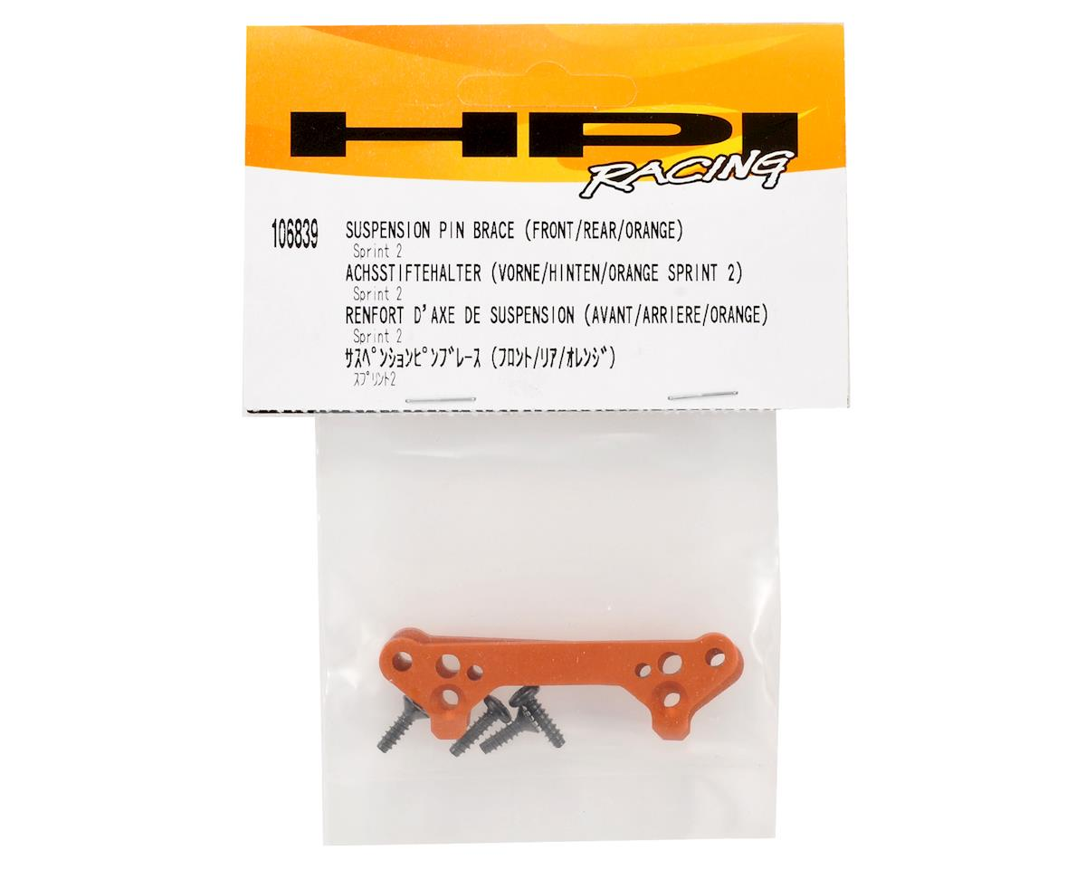 Front & Rear Suspension Pin Brace (Orange) by HPI Racing