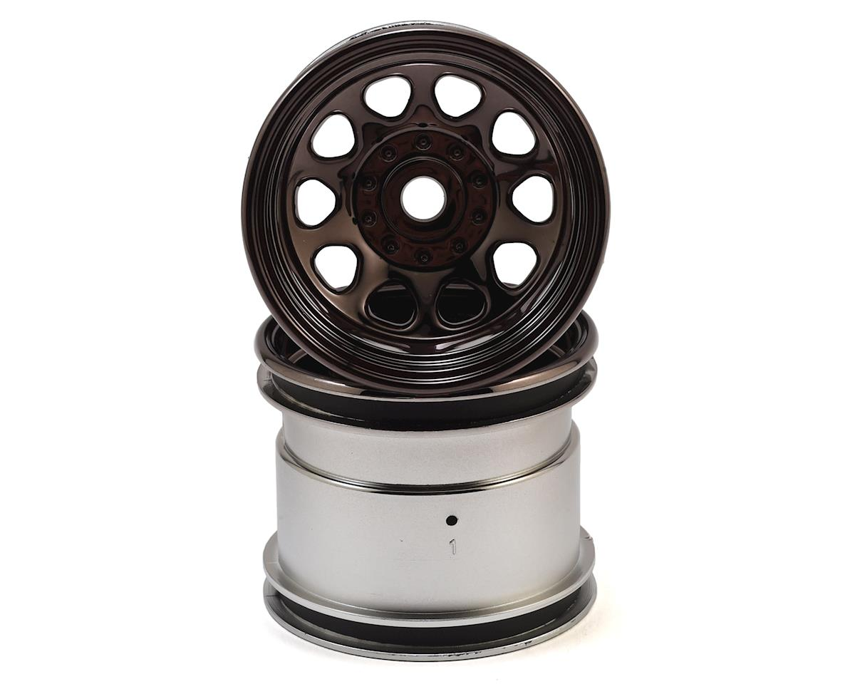 "HPI Firestorm 10T 12mm Hex Classic King 2.2"" Truck Wheel (Black Chrome) (2)"