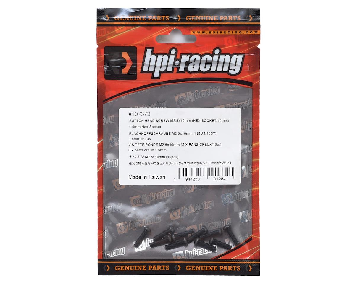 HPI Racing 2.5x10mm Button Head Screw (10)
