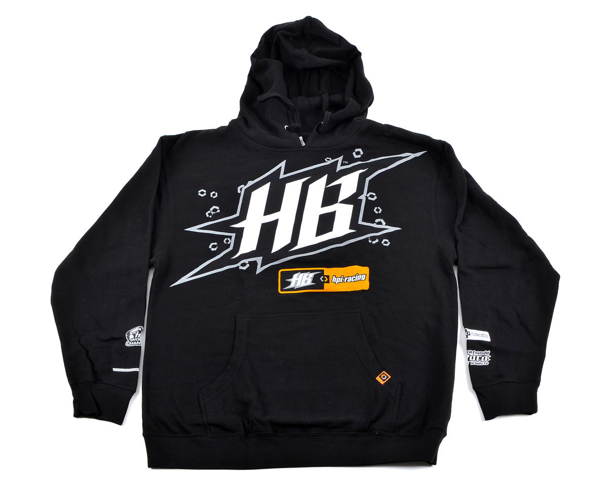 "HPI Racing HB Black ""Race"" Hooded Sweatshirt (Adult Medium)"