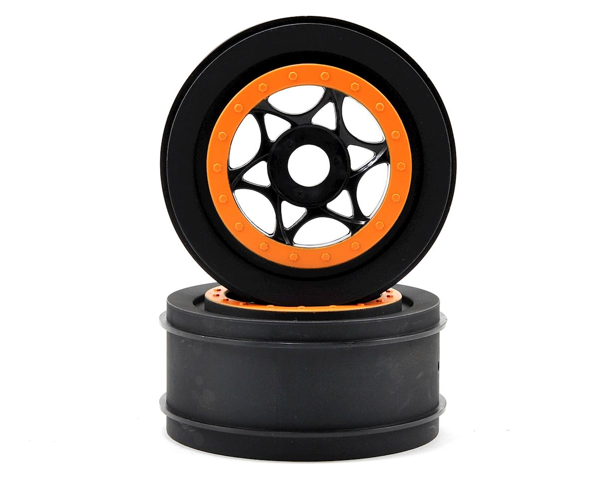 HPI AH-64 42X83mm Wheel (2) (Black/Orange)