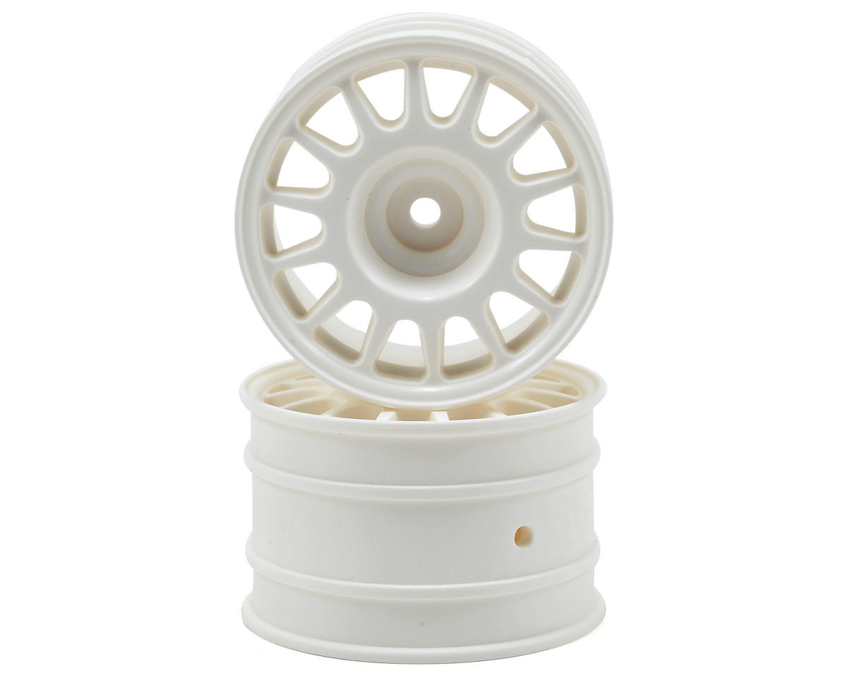 48x33mm WR8 Rally Off-Road Wheel Set (White) (2) by HPI