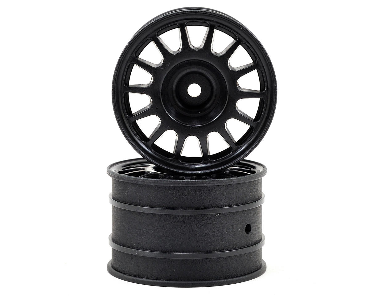 HPI WR8 Flux 48x33mm Rally Off-Road Wheel Set (Black) (2)