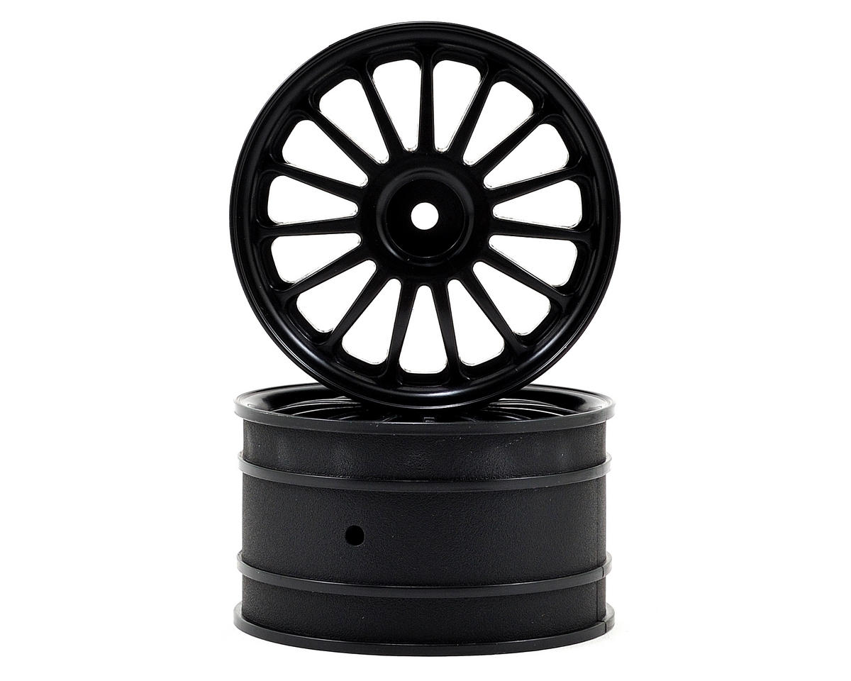 HPI 57x35mm WR8 Tarmac Wheel Set (Black) (2)