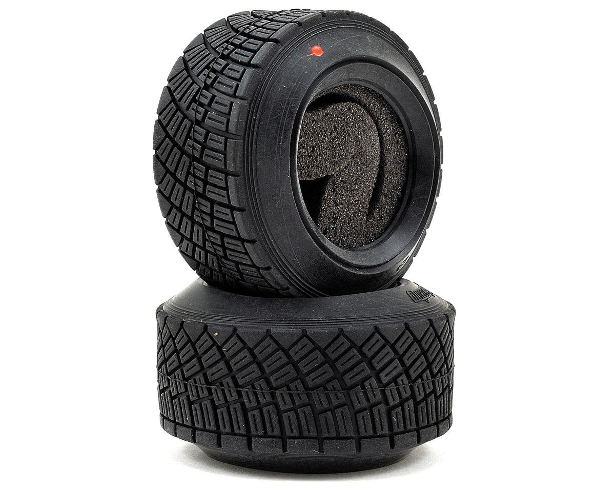 WR8 Rally Off Road Tire Set (Red Compound) (2) by HPI