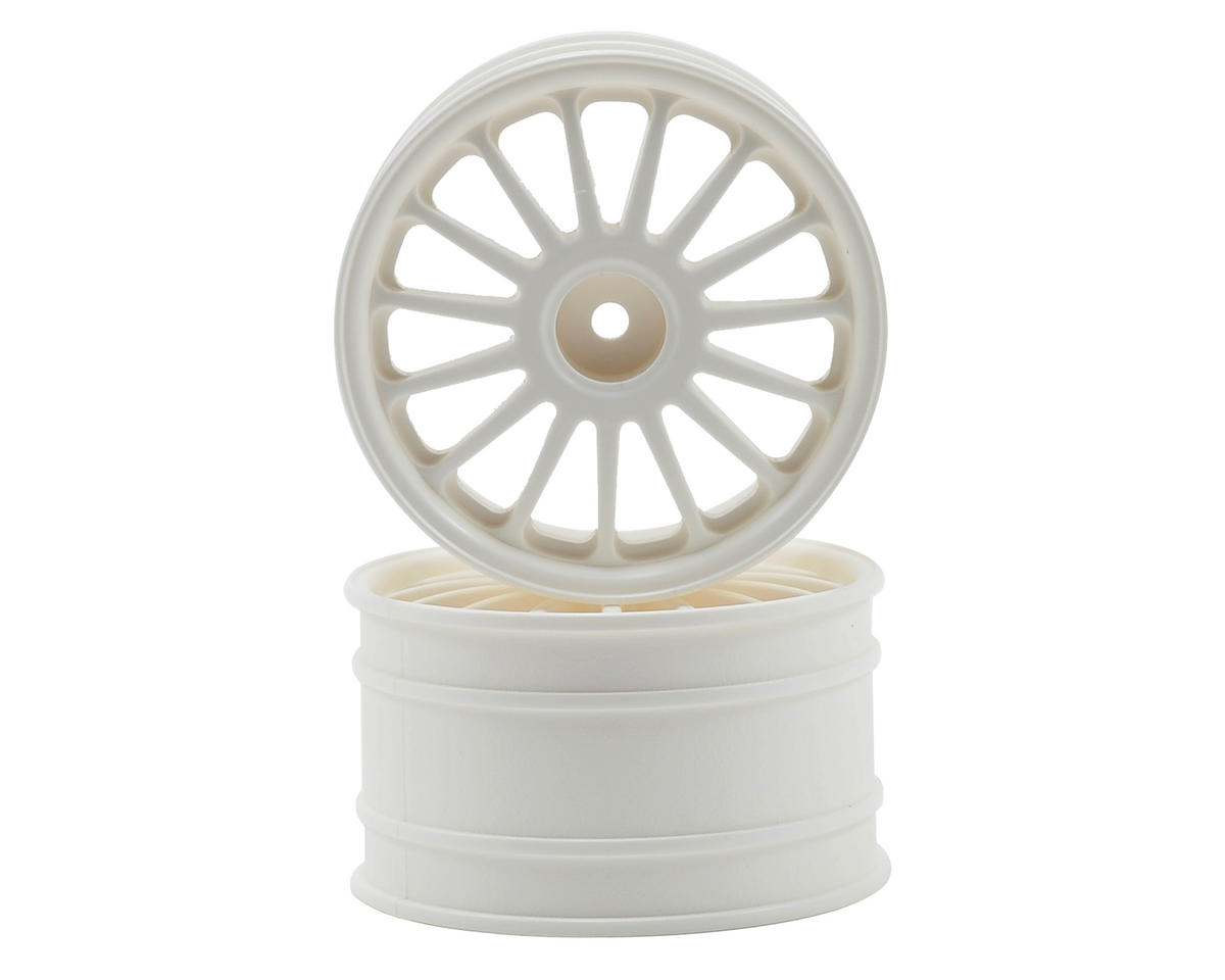 HPI Racing WR8 Flux 57x35mm Tarmac Wheel Set (White) (2)