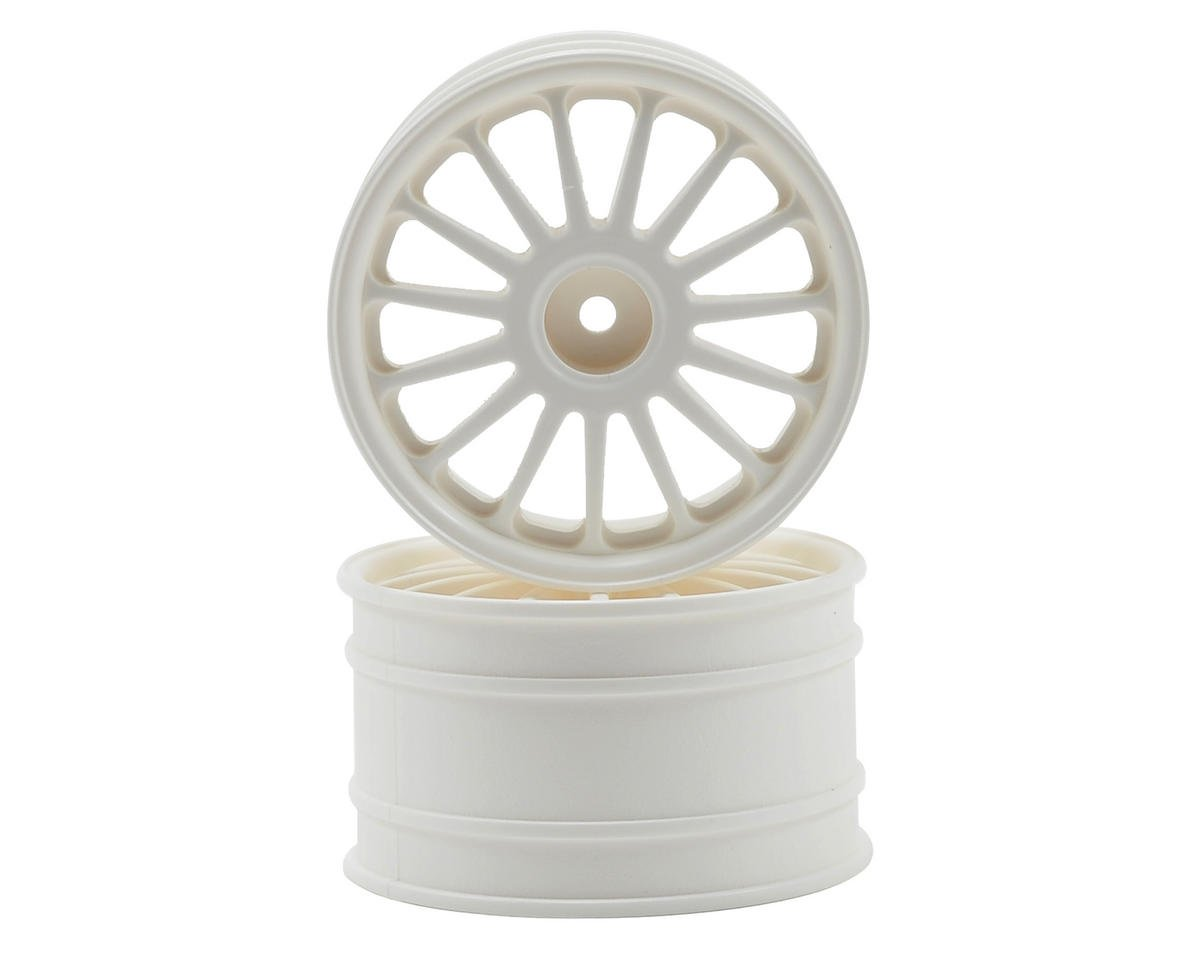 HPI 57x35mm WR8 Tarmac Wheel Set (White) (2)