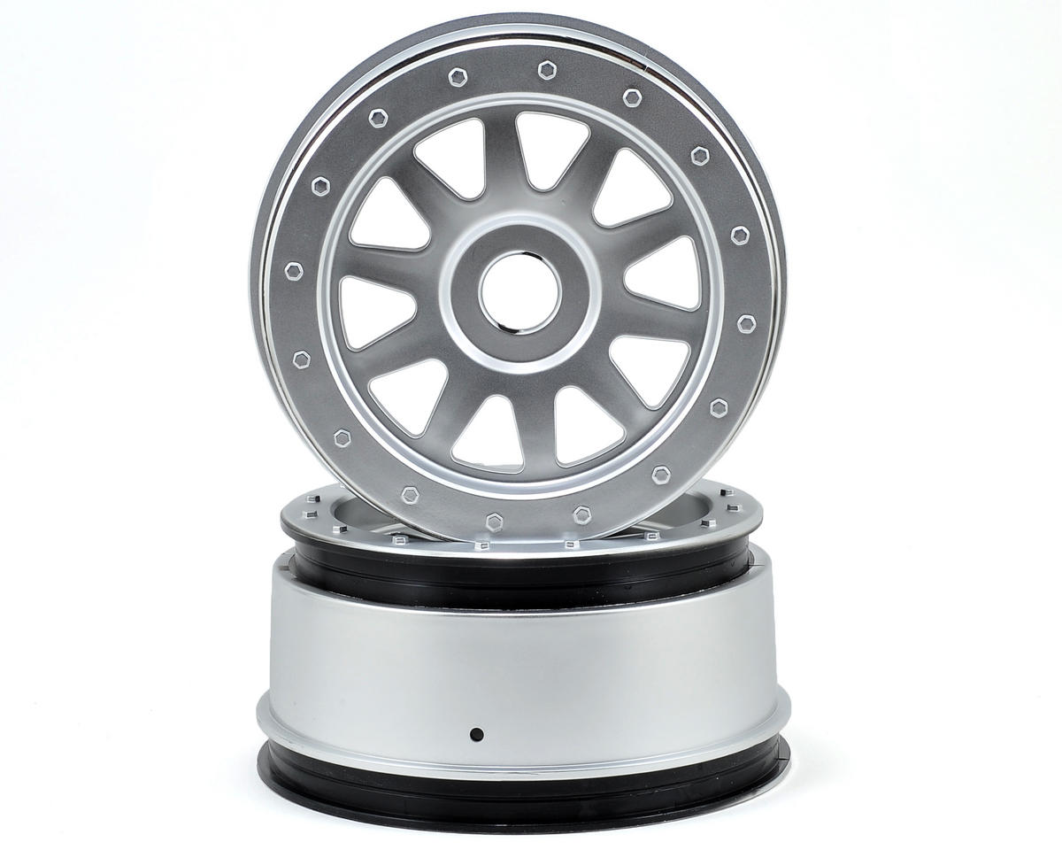 HPI Racing TR-10 Super 5SC Flux Glue-Lock Wheels (2) (120x60mm) (Matte Chrome)
