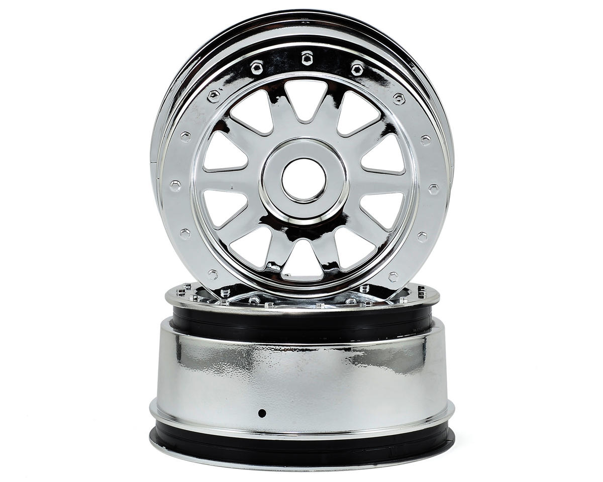 HPI Racing Baja 5SC Flux TR-10 Super Glue-Lock Wheel Set (2) (120x60mm) (Chrome)