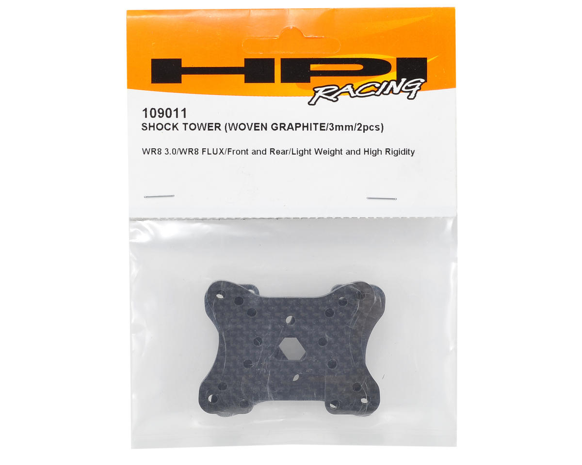 HPI 3mm Carbon Fiber Front/Rear Shock Tower Set (2)