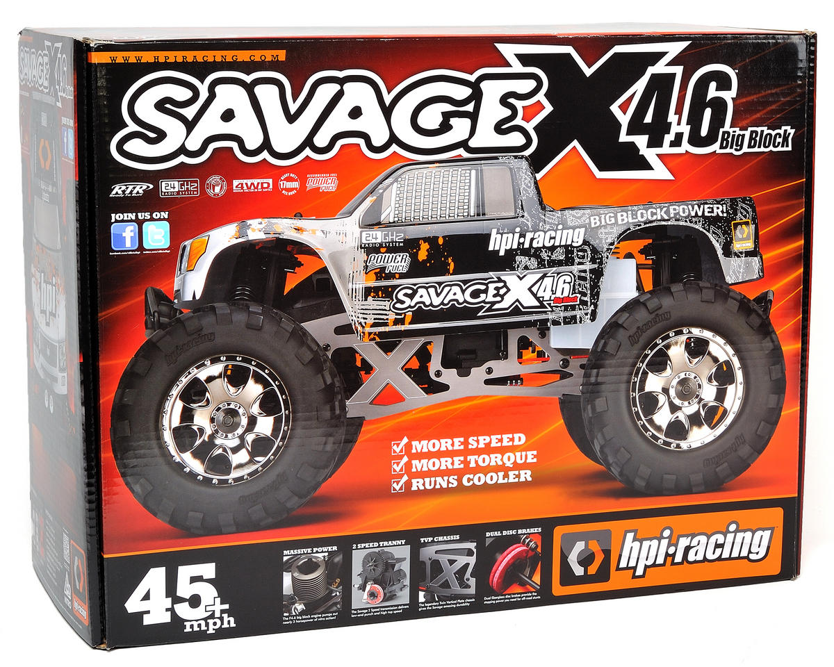 Savage X 4.6 1/8 RTR Monster Truck by HPI
