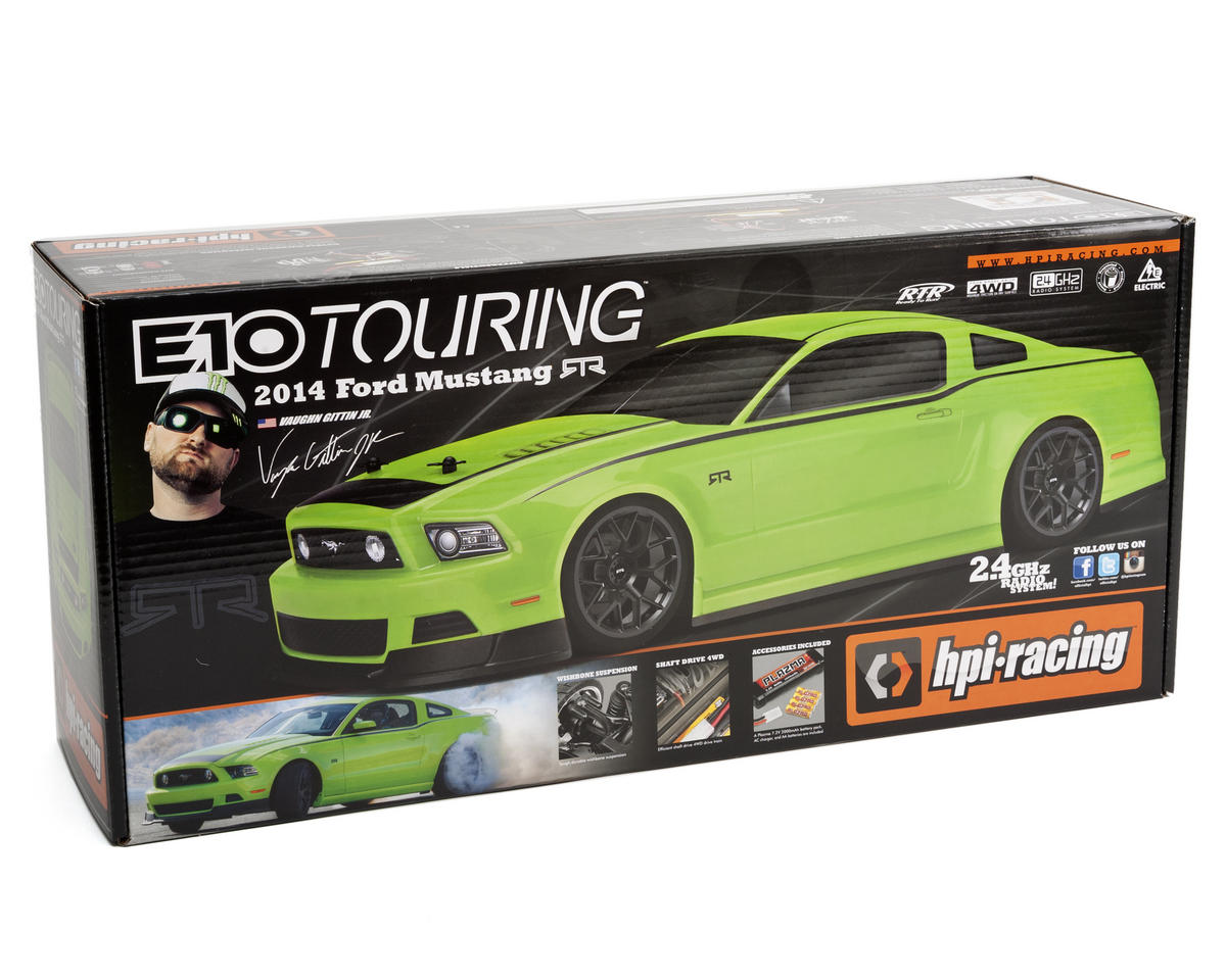 HPI Racing E10 Touring Gittin Jr 2014 Mustang Body (Green)