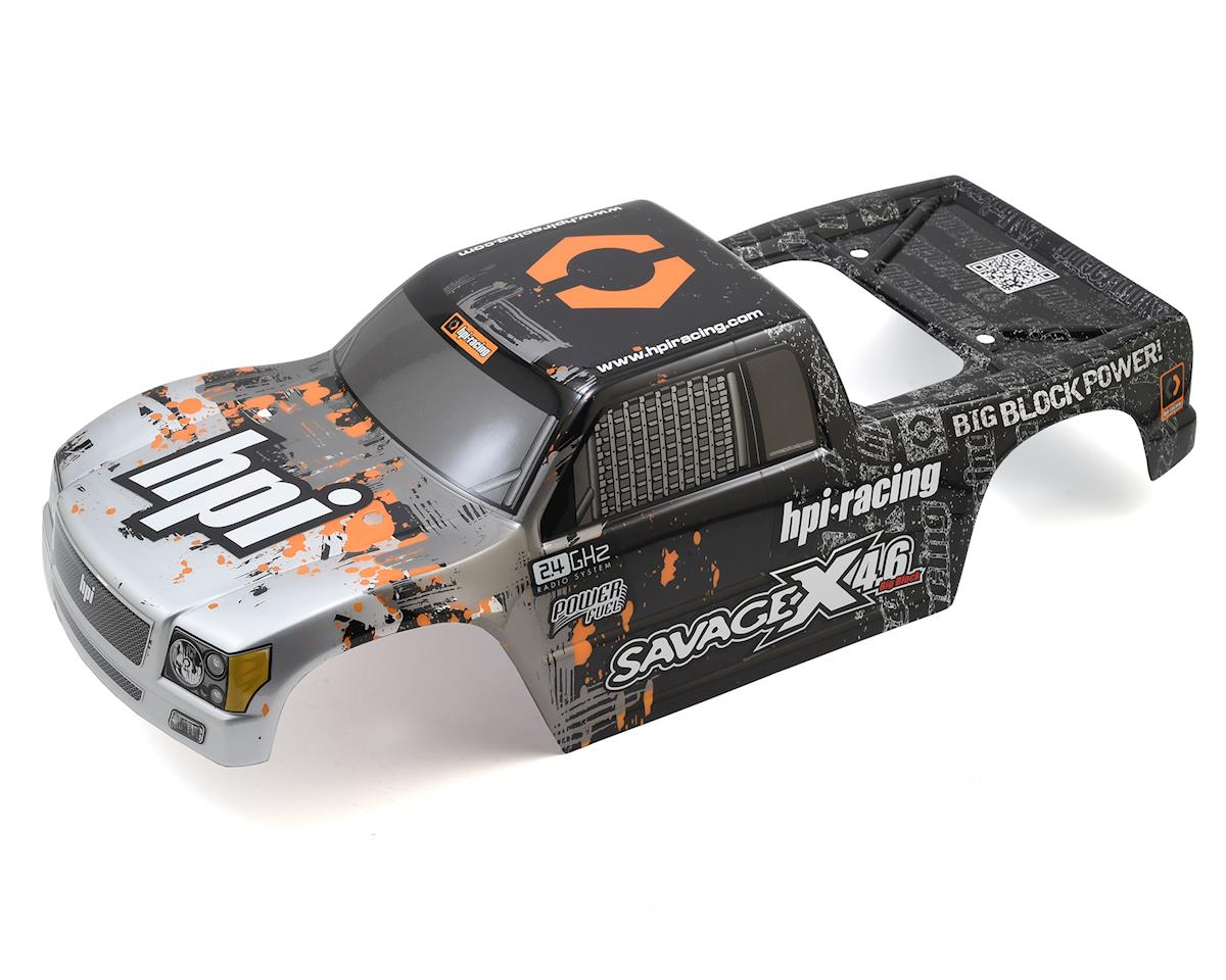 Nitro GT-3 Pre-Painted Truck Body (Silver/Gunmetal) by HPI