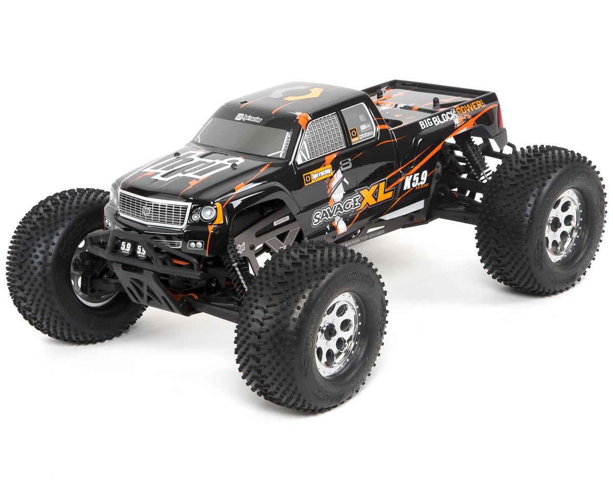 hpi racing savage xl 5 9 big block 1 8 scale rtr truck hpi112601 cars trucks