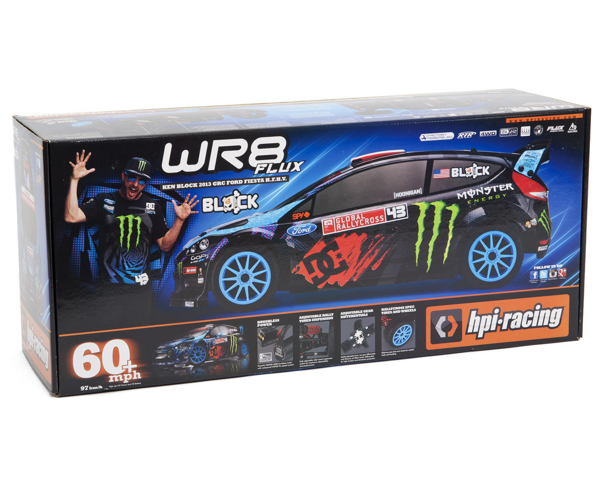 HPI Racing Ken Block WR8 Flux 2013 GRC Ford Fiesta 1/8 RTR Electric Rally Car w/