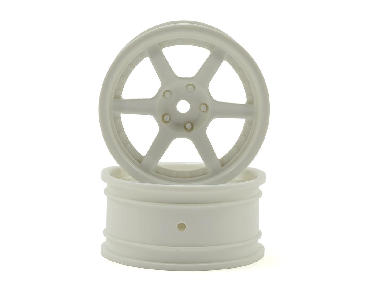 26mm HRE C106 E10 Drift Wheel (White) (2) (6mm Offset) by HPI