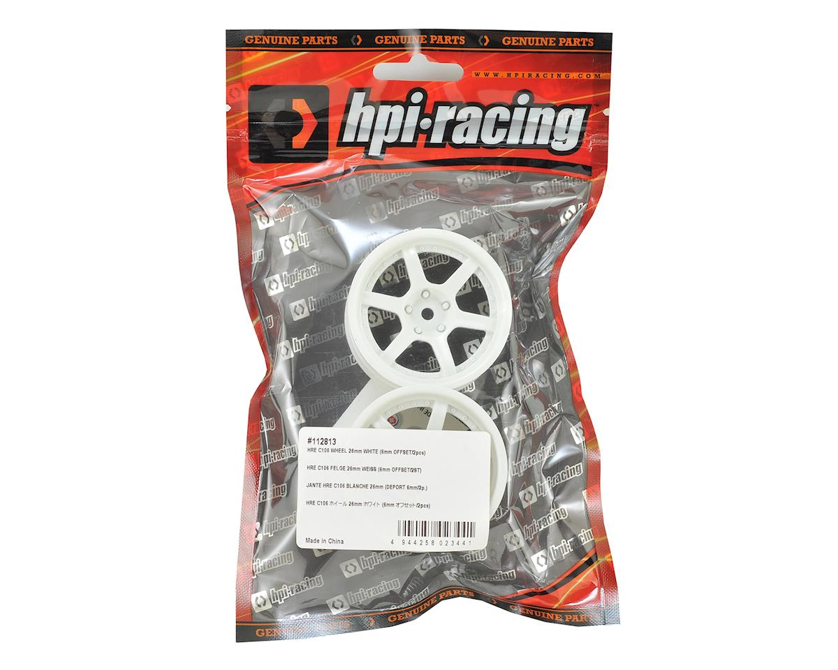 HPI 26mm HRE C106 E10 Drift Wheel (White) (2) (6mm Offset)