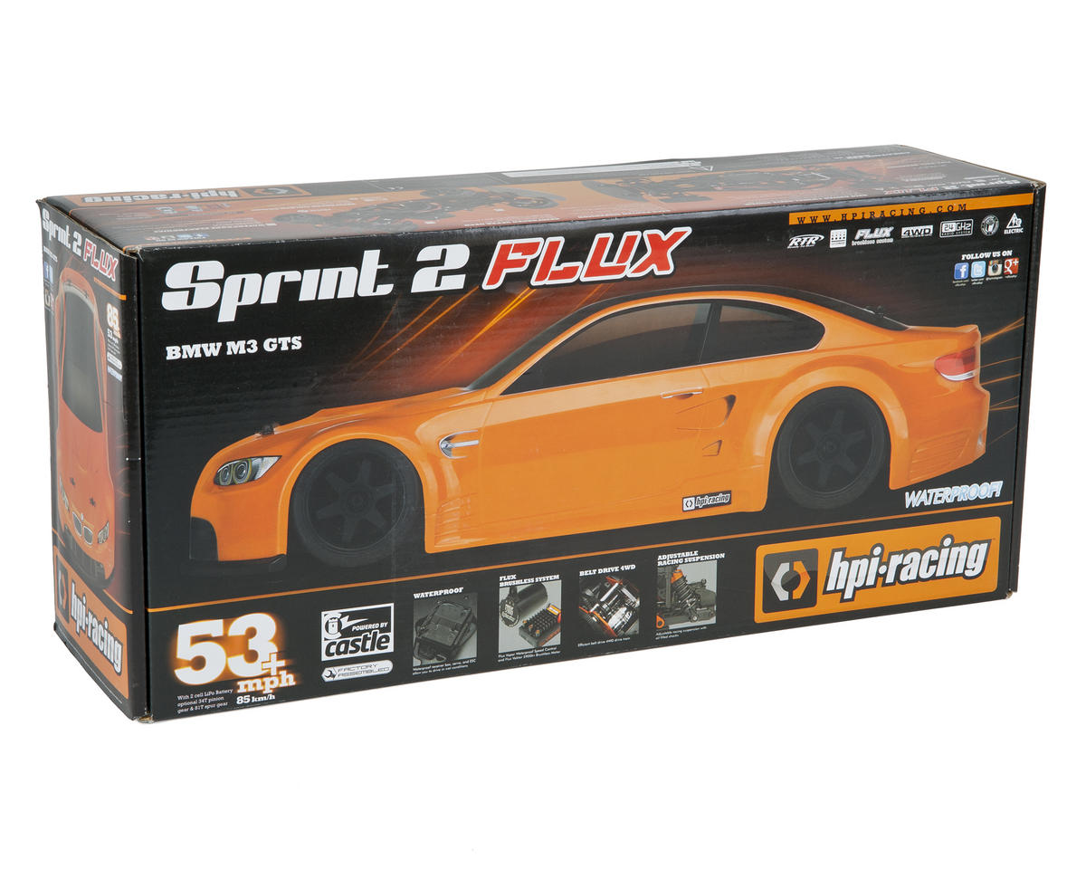 HPI Sprint 2 Flux Brushless RTR w/BMW M3 GTS Body & 2.4GHz Radio System