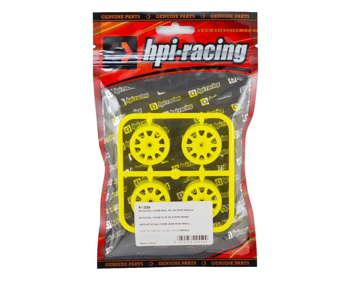 HPI Micro RS4 Method Rallycross Wheel (Yellow) (4)