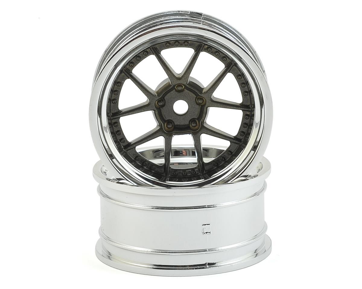 HPI 12mm Hex 26mm DY-Champion 1/10 Wheel (Chrome/Bronze) (2) (6mm Offset)