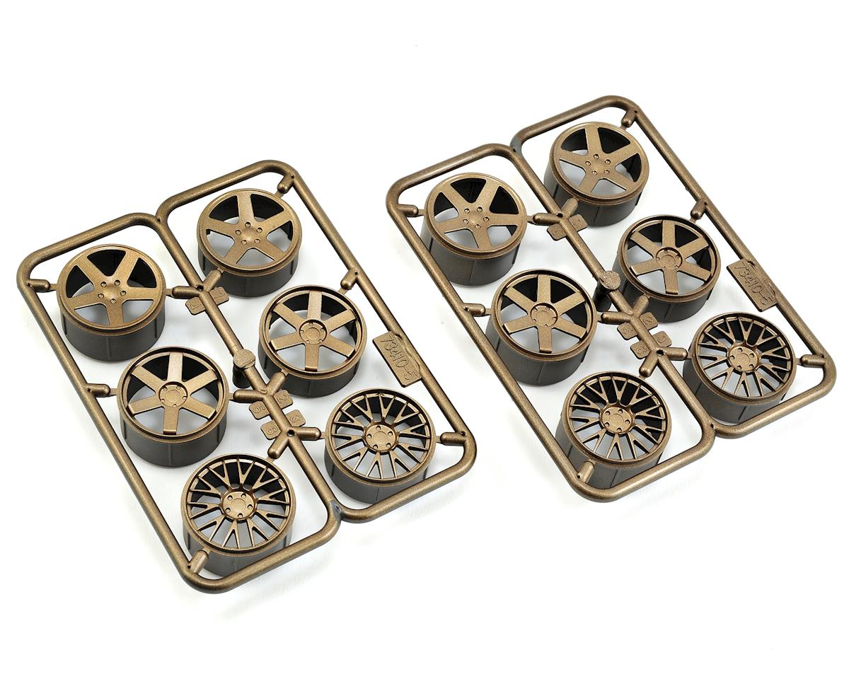 HPI Micro RS4 Wheel Set (Bronze) (6 Pairs) (Mesh, 5-Spoke, 6-Spoke)