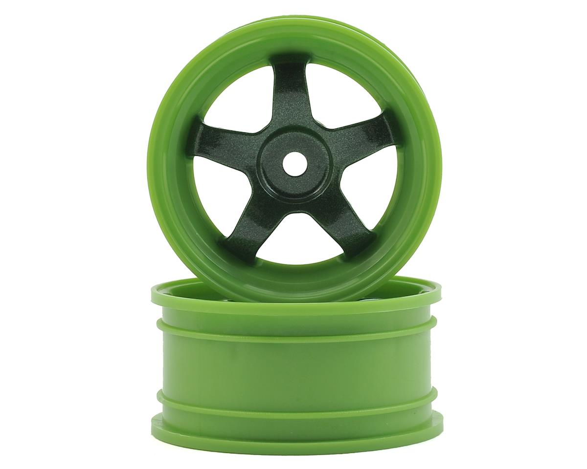 HPI 12mm Hex 26mm Work Meister S1 1/10 Wheel (Green) (2) (0 Offset)