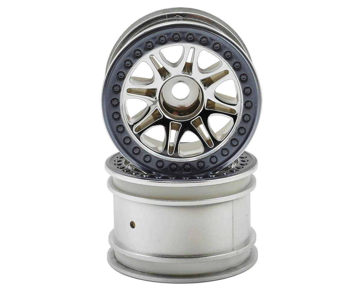 HPI Split 8 Truck Wheel (2) (Chrome)