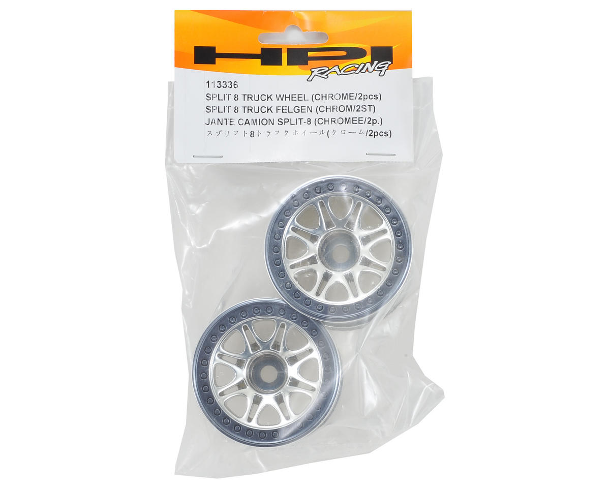 HPI Racing Split 8 Truck Wheel (2) (Chrome)