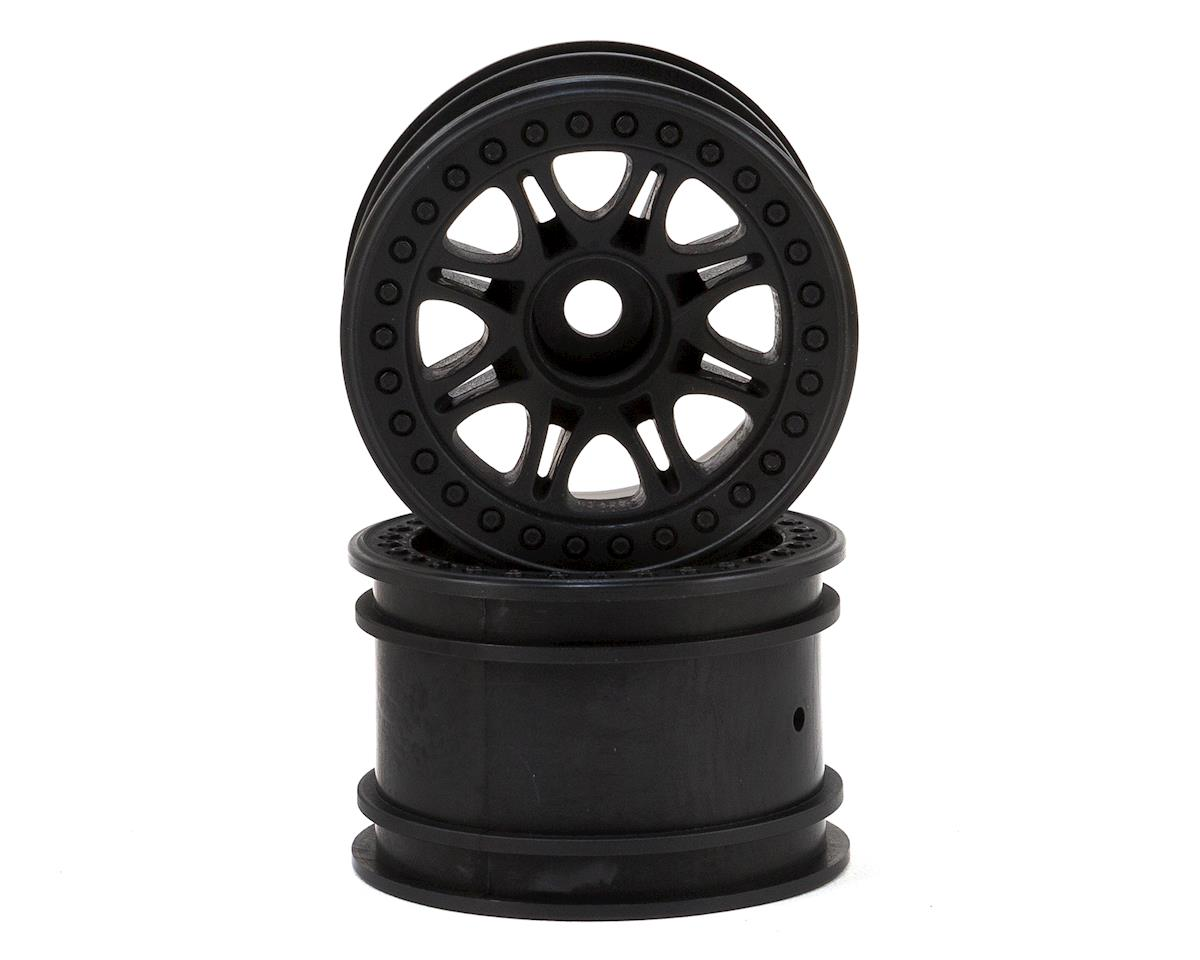 Split 8 Truck Wheel (2) (Black) by HPI